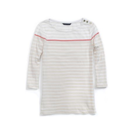 Image for 3/4 SLEEVE BUTTON STRIPE KNIT TOP from Tommy Hilfiger USA