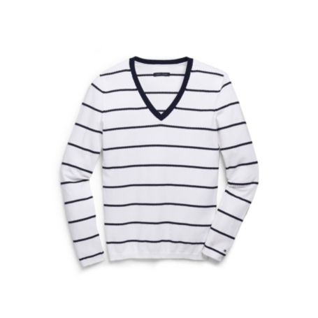 Image for POINTELLE V-NECK SWEATER from Tommy Hilfiger USA