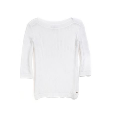 Image for 3/4 SLEEVE TEXTURED SWEATER from Tommy Hilfiger USA
