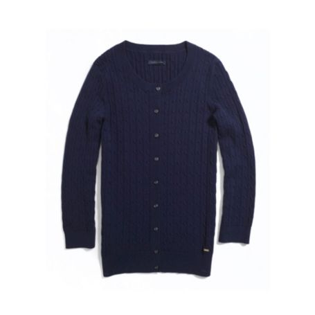 Image for CABLE CREW CARDI from Tommy Hilfiger USA