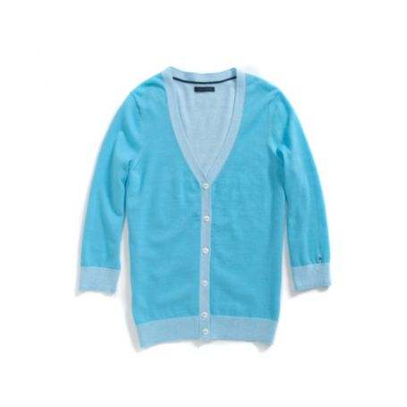 Image for V-NECK CARDI WITH PLATING from Tommy Hilfiger USA