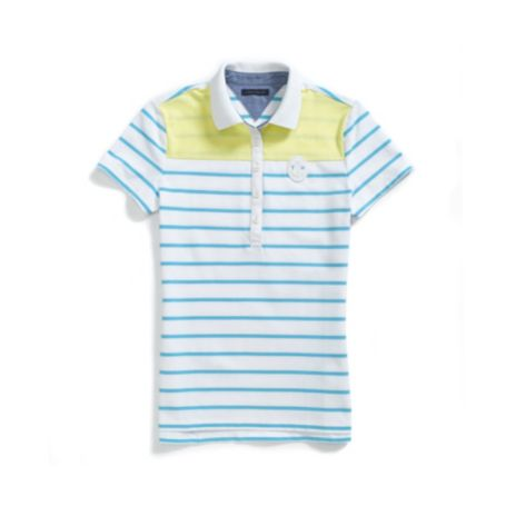 Image for PIECED STRIPE COLORBLOCK POLO from Tommy Hilfiger USA