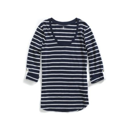 Image for ROLL SLEEVE STRIPE TEE from Tommy Hilfiger USA