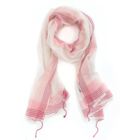 Image for OMBRE BORDER STRIPE SCARF from Tommy Hilfiger USA