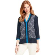 DIAMOND PRINTED BLOUSE $89.00
