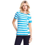 STRIPE BOATNECK TEE $49.00