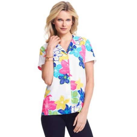 Image for HIBISCUS BLOUSE from Tommy Hilfiger USA
