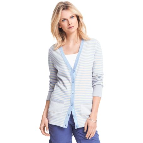 Image for SUMMER WEIGHT STRIPE CARDIGAN from Tommy Hilfiger USA