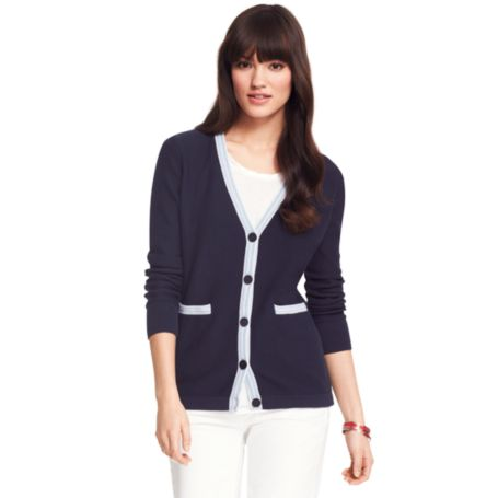 Image for TIPPED CARDI from Tommy Hilfiger USA