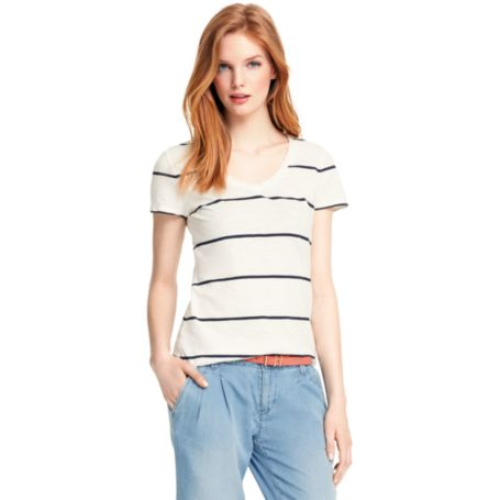Image for SLUB SINGLE STRIPE TEE from Tommy Hilfiger USA