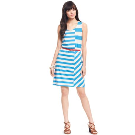 Image for SKY STRIPE TANK DRESS from Tommy Hilfiger USA