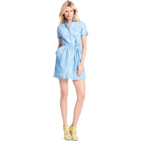 Image for CLOUD PATTERN SHIRTDRESS from Tommy Hilfiger USA