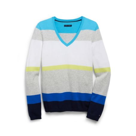 Image for COLORBLOCK STRIPE SWEATER from Tommy Hilfiger USA