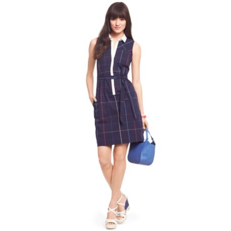 Image for WINDOWPANE SLEEVELESS DRESS from Tommy Hilfiger USA