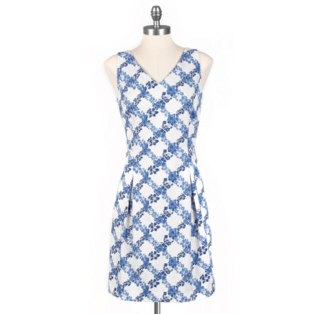 Image for PLEATED PRINTED DRESS from Tommy Hilfiger USA