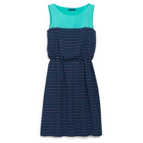 Image for GATHERED DOT DRESS from Tommy Hilfiger USA