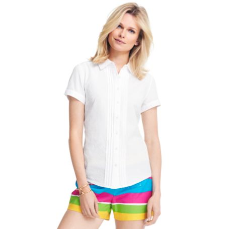Image for SHORT SLEEVE DOBBY BLOUSE from Tommy Hilfiger USA