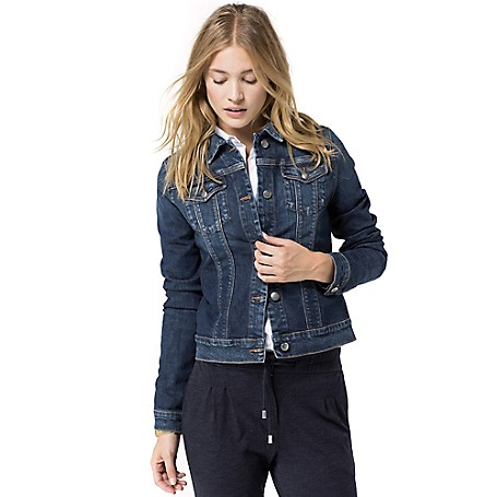 Tommy Hilfiger Classic Jeans Jacket - Absolute Blue Tommy Hilfiger Women's Jacket. Remember That Go-To Jean Jacket From Your Youth? We've Brought It Back And Tailored It For A More Flattering Fit. • Classic Fit.• 98% Cotton, 2% Elastene.• Chest And Slash Pockets.• Machine Washable.• Imported.