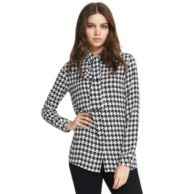 HOUNDSTOOTH BLOUSE $99.00