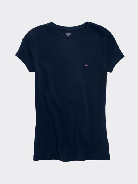 Tommy Hilfiger Short Sleeve Crew Neck Tee - Masters Navy - Xl