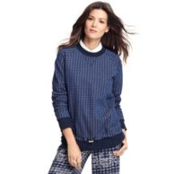 TH COLLECTION CHECKED SWEATER $390.00