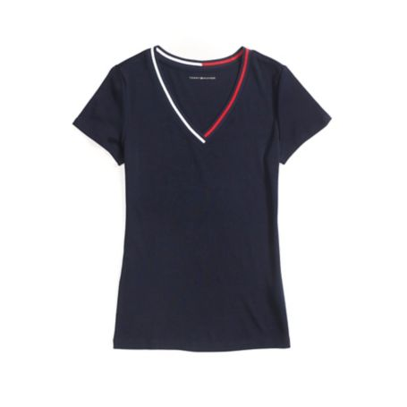 Tommy Hilfiger Short Sleeve V-Neck Tee - Core Navy - Xxl