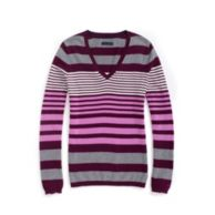 MULTISTRIPE V NECK SWEATER $49.50