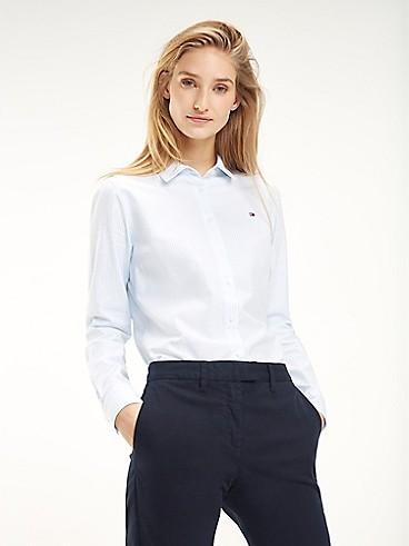타미 힐피거 우먼 스트라이프 옥스포드 셔츠 (클래식핏) Tommy Hilfiger Classic Fit Essential Stripe Oxford Shirt