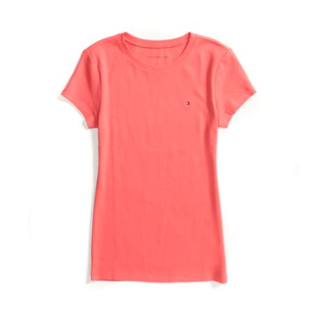 Tommy Hilfiger Short Sleeve Crew Neck Tee - New Rose - S