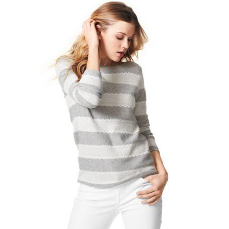 Tommy Hilfiger Lace Stripe Sweater - Black