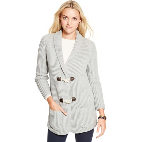 Tommy Hilfiger Toggle Cardigan - Cs Grey Heather