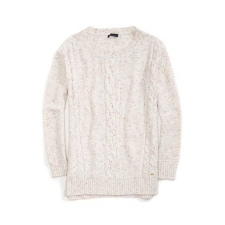 Tommy Hilfiger Flecked Cableknit Sweater - Calypsol Coral