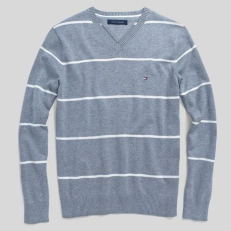 Image for CLASSIC STRIPE V-NECK SWEATER from Tommy Hilfiger USA
