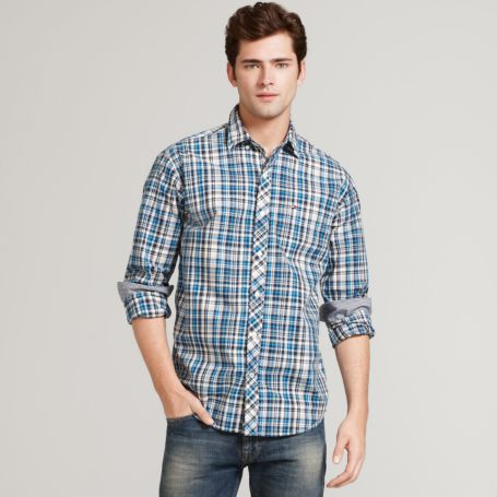 Image for LONG SLEEVE MULTI PLAID SHIRT from Tommy Hilfiger USA