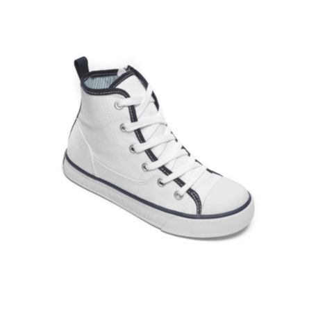 Tommy Hilfiger Solid Lace Up High Top Sneaker - Classic White