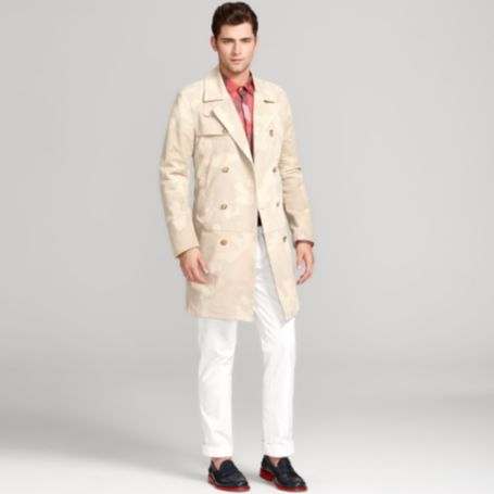 Image for LARRY LEATHER CAMO TRENCH from Tommy Hilfiger USA