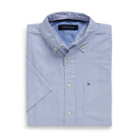Image for CLASSIC FIT STRIPE OXFORD SHORT SLEEVE SHIRT from Tommy Hilfiger USA