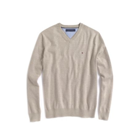 Image for SOLID V NECK SWEATER from Tommy Hilfiger USA