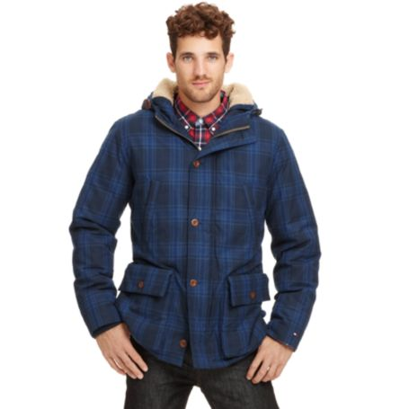 Image for PLAID PARKA COAT from Tommy Hilfiger USA