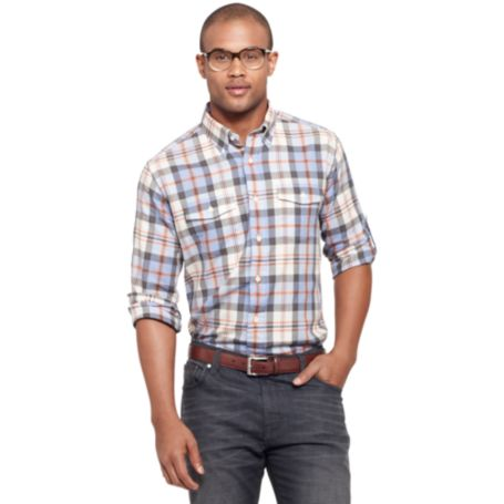Image for LONG SLEEVE TWO POCKET PLAID SHIRT from Tommy Hilfiger USA