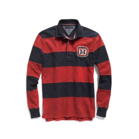 Image for PIECED STRIPED RUGBY from Tommy Hilfiger USA