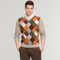 ARGYLE VNECK SWEATER $99.99