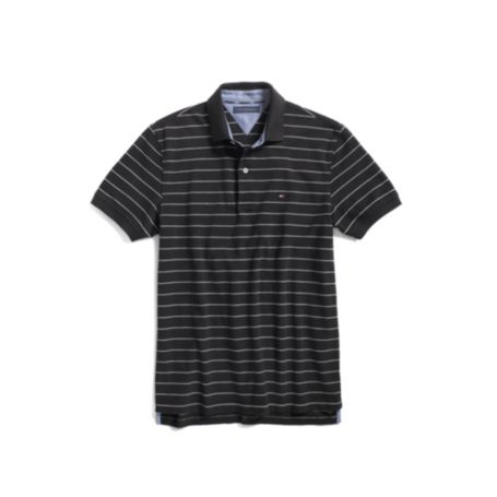 Image for SHORT SLEEVE PIQUE THIN STRIPE POLO from Tommy Hilfiger USA