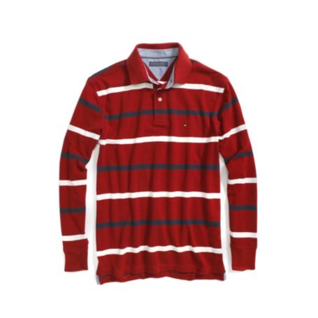 Image for LONG SLEEVE PIQUE STRIPE POLO from Tommy Hilfiger USA