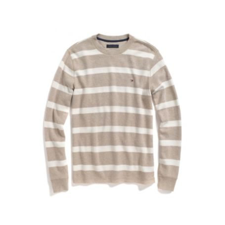 Image for LONG SLEEVE STRIPE WAFFLE TEE from Tommy Hilfiger USA