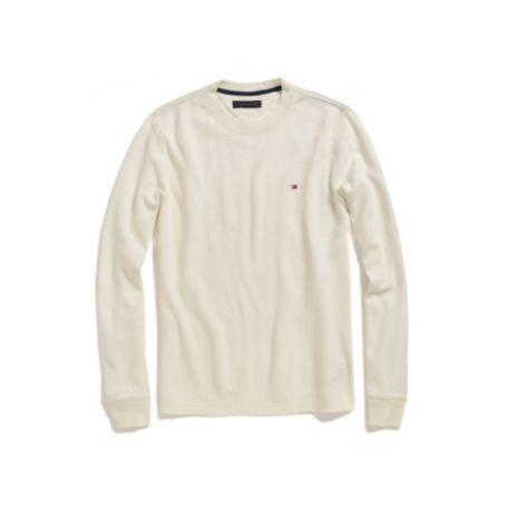 Image for LONG SLEEVE SOLID WAFFLE TEE from Tommy Hilfiger USA