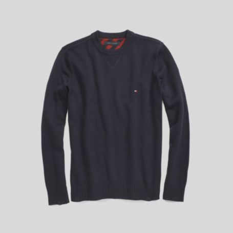 Image for SOLID CREW NECK SWEATER from Tommy Hilfiger USA