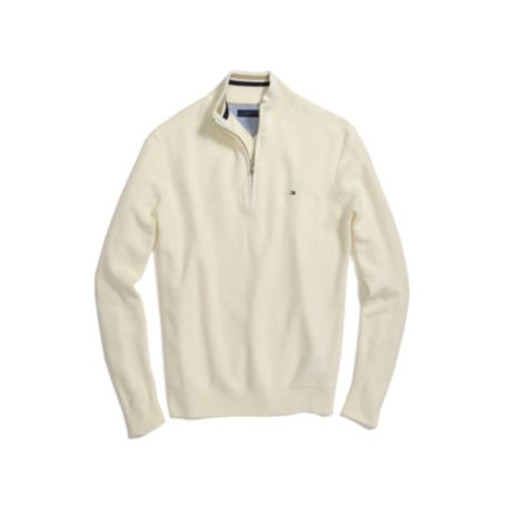 Image for PIQUE MOCK NECK SWEATER from Tommy Hilfiger USA