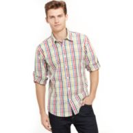 SLIM FIT PLAID SHIRT $49.99