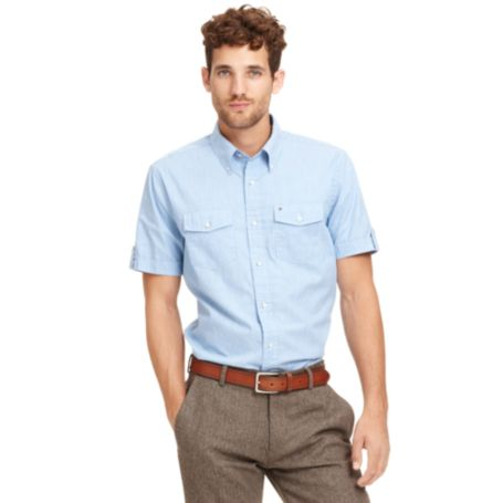 Image for SHORT SLEEVE SLIM FIT SHIRT from Tommy Hilfiger USA